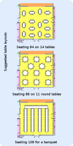 Parish Hall Seating Plans